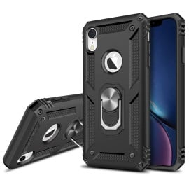 Vaku ® Apple iPhone XR Armor Ring Shock Proof Cover with Inbuilt Kickstand