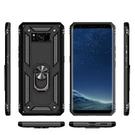 Vaku ® Samsung Galaxy S8 Plus Armor Ring Shockproof Cover with Inbuilt Kickstand