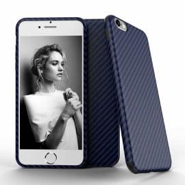 Vaku ® Apple iPhone 6 Plus / 6S Plus Carbon Fiber Finish Gel Grip Cover + Heat Air Holes Defender Case Back Cover