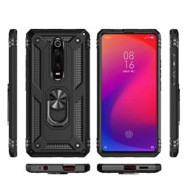Vaku ® Xiaomi Redmi K20 / K20 Pro Armor Ring Shock Proof Cover with Inbuilt Kickstand
