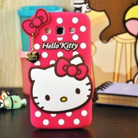 Cute Cases™ 4D Hello Kitty Design Ultra-Soft Gel Silicon Mobile Case + Kitty Pendant