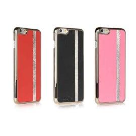 iSecret ® Apple iPhone 6 Plus / 6S Plus Luxury Swarovski Diamond Carpio Slim Leather + Gold Electroplating Back Cover