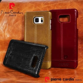 Pierre Cardin ® Samsung Galaxy Note 4 Paris Design Premium Leather Case Back Cover
