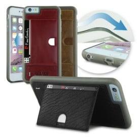 Pierre Cardin ® Apple iPhone 6 / 6S Paris Design Premium Leather Case with Credit Card Storage Back Cover