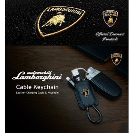 Lamborghini ® Official Ultra-Portable Keychain Style Apple Lightning Port Charging / Data Cable