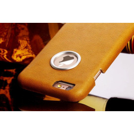 Pierre Cardin ® Apple iPhone 6 / 6S Genuine Leather Paris Designed Metallic Logo Display Back Cover