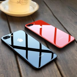 Vaku ® Apple iPhone 7 Plus Club Series Ultra-Shine Luxurious Tempered Finish Silicone Frame Thin Back Cover