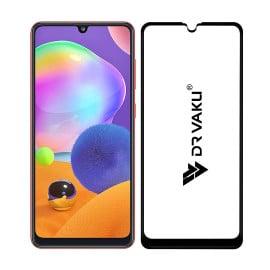 Dr. Vaku ® Samsung Galaxy A31 Full Edge-to-Edge Ultra-Strong Ultra-Clear Full Screen Tempered Glass- Black