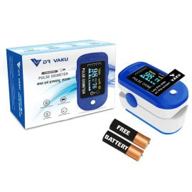 Dr Vaku Swadesi Pulse Oximeter Finger Pulse Blood Oxygen SpO2 Monitor FDA CE Approved | Make in India
