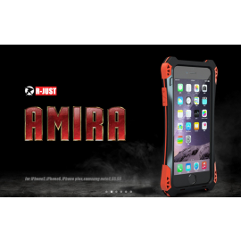 R-JUST ® Apple iPhone 6 Plus / 6S Plus Amira Carbon Fiber + Shockproof + Dustproof + Water Resistant Back Cover