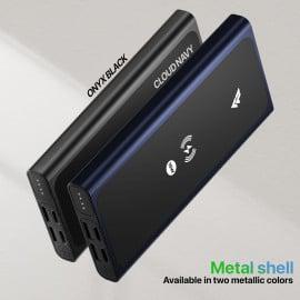 VAKU ® Surge Series 20W Wireless Portable 10000 mAh Power Bank 20W PD QC Dual USB Powerbank