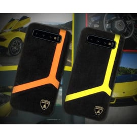 Lamborghini ® Samsung Galaxy S10 Plus Alcantra Aventador D11 Limited Edition Case Back Cover