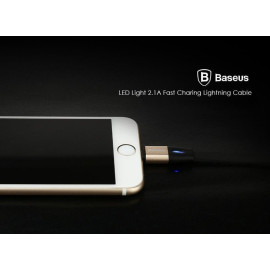 Baseus ® Inbuilt LED Indicator Auto-Disconnect Apple Lightning Port Charging / Data Cable