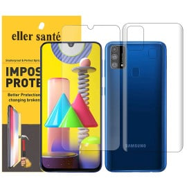 Eller Sante ® Samsung Galaxy M21 Impossible Hammer Flexible Film Screen Protector (Front+Back)
