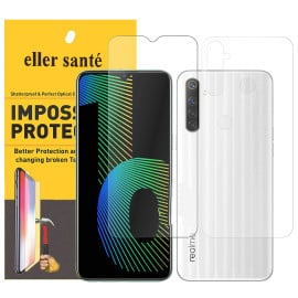 Eller Sante ® Realme Narzo 10 Impossible Hammer Flexible Film Screen Protector (Front+Back)