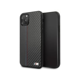 BMW ® Apple iPhone 11 Pro M5 Competition PU Leather Carbon Fiber Back Cover
