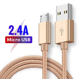 Vaku ® Nylon Braided USB Pack of 3, Micro USB Port Compatible Cable (3 Feet/0.9 Meter)