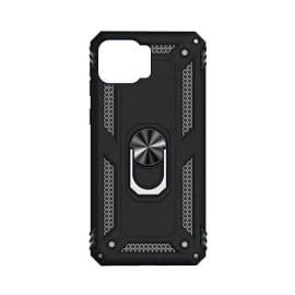 Vaku ® Oppo F17 Armor Ring Shock Proof Cover with Inbuilt Kickstand