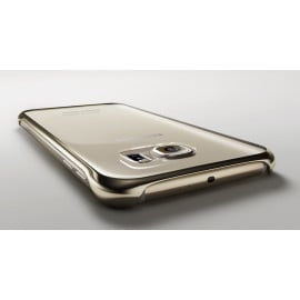 Samsung ® Samsung Galaxy S6 Official Metal Electroplated Corner Drop-Protection Transparent Full-View PCe Back Cover