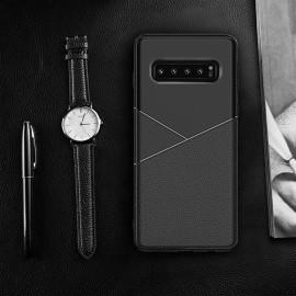 Vaku ® Samsung Galaxy S10 Business Leather Pattern Soft TPU Back Cover