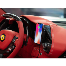 Scuderia Ferrari ® Rapid 10 watt Car Auto Sensing Wireless Fast Charger