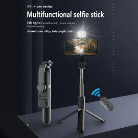 Eller Sante ® Aluminum Extendable Selfie Stick Tripod with wireless Bluetooth Remote Compatible with iPhone 12/12Pro/ Max/11 Pro/11 -Black