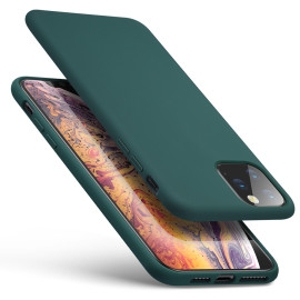 Vaku ® Apple iPhone 11 Pro Max Fluid Silicon Velvet-Touch Silk Finish Shock-Proof Back Cover