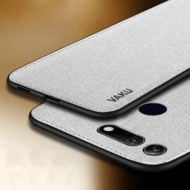 Vaku ® Huawei Honor V20 Luxico Series Hand-Stitched Cotton Textile Ultra Soft-Feel Shock-proof Water-proof Back Cover