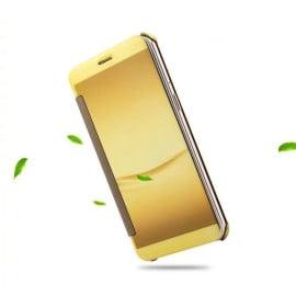 Vaku ® OPPO F3 Mate Smart Awakening Mirror Folio Metal Electroplated PC Flip Cover