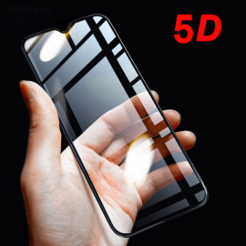 Dr. Vaku ® Oppo Realme 3 5D Curved Edge Ultra-Strong Ultra-Clear Full Screen Tempered Glass Black