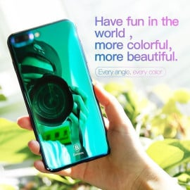 Baseus ® Apple iPhone 7 Plus Glass Series Ultra-Shine Luxurious Mirror Finish Translucent Back Cover