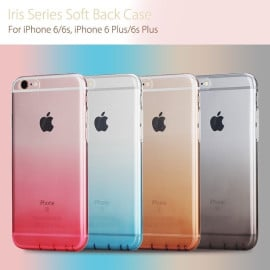 Rock ® Apple iPhone 6 / 6S Iris Dual Gradient Colour Finish with Full Transparent Display TPU Soft / Silicon Case