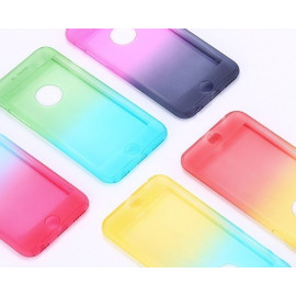Vaku ® Apple iPhone 6 / 6S 360 Full Protection Dual-Colour Finish 3-in-1 Ultra-thin Slim Front Case + Tempered + Back Cover