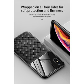 BASEUS ® Apple iPhone XS Weaving Glass Series Cross-Knitt Heat-Dissipation Edition Ultra-Thin TPU Back Cover