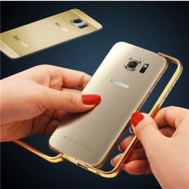 ProCASE ® Samsung Galaxy S6 Edge Ultra Slim Luxurious Brushed Aluminium Metal Bumper + Back Cover
