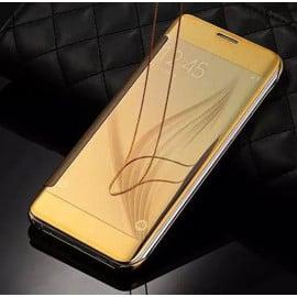 Vaku ® Samsung Galaxy A8 Mate Smart Awakening Mirror Folio Metal Electroplated PC Flip Cover