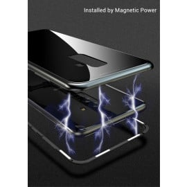 Vaku ® Samsung Galaxy J8 Electronic Auto-Fit Magnetic Wireless Edition Aluminium Ultra-Thin CLUB Series Back Cover