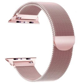 Eller Sante ® Apple Watch Series (1/2/3/4) 42mm / 44mm Magnetic Clasp Stainless Steel Mesh Band-Rose Gold
