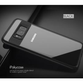 Vaku ® Samsung J7 Prime / J7 Prime 2 Kowloon Series Top Quality Soft Silicone  4 Frames plus ultra-thin case transparent cover-Black