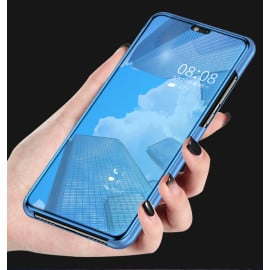 Vaku ® Samsung Galaxy A50 Mate Smart Awakening Mirror Folio Metal Electroplated PC Flip Cover