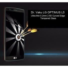 Dr. Vaku ® LG OPTIMUS L5 Ultra-thin 0.2mm 2.5D Curved Edge Tempered Glass Screen Protector Transparent