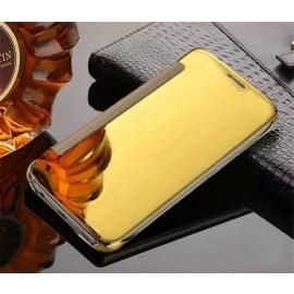 Vaku ® Samsung Galaxy J7 Max Mate Smart Awakening Mirror Folio Metal Electroplated PC Flip Cover