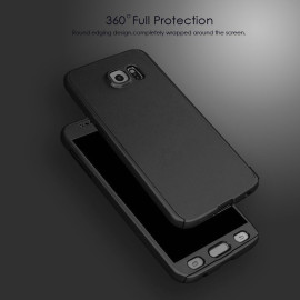 Ooxoo ® Samsung Galaxy S6 360 Full Protection Metallic Finish 3-in-1 Ultra-thin Slim Front Case + Tempered + Back Cover