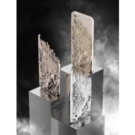 Love Crazy ® Apple iPhone 6 / 6S Premium Design Angel Star Wings Metallic 3D Plating Back Cover