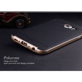 i-Paky ® Samsung Galaxy S6 Edge Plus Mat Series Ultra-thin Hybrid Silicon Grip Shockproof Protective Shell Back Cover