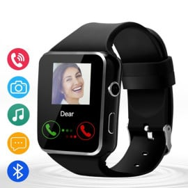 VAKU ® X6 SmartWatch with Phone Camera + SIM Card Slot + Pedometer for Men & Women Sport Smart Watch for Android iOS Phone