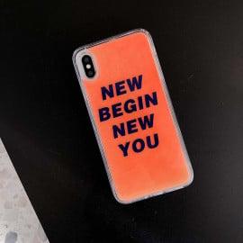 VAKU ® Apple iPhone X / XS  Neo Glow Waterfall Liquid Sand EVENSHOW Shockproof Back Cover