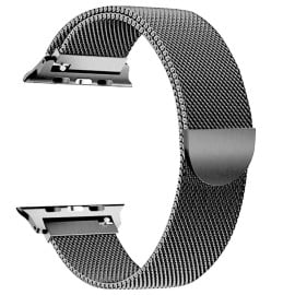 Eller Sante ® Apple Watch Series (1/2/3/4) 42mm / 44mm Magnetic Clasp Stainless Steel Mesh Band-Black