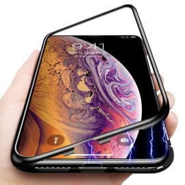 Vaku ® Apple iPhone XS Max Electronic Auto-Fit Magnetic Wireless Edition Aluminium Ultra-Thin CLUB Series Back Cover