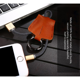 Joyroom ® Leather Keychain Series Micro USB port Charging / Data Cable + Key Chain
